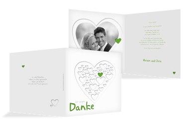 Hochzeit Dankeskarte Herzform