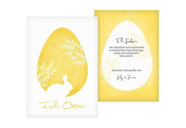Osterkarte Ei