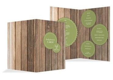 Hochzeit Menükarte Vintage Holz