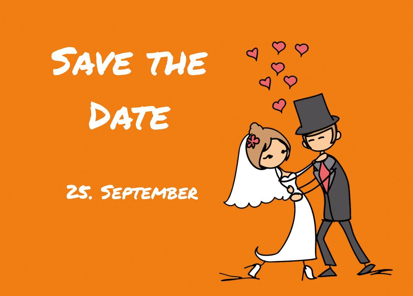 Ansicht 2 - Hochzeit Save-the-Date Comic Brautpaar