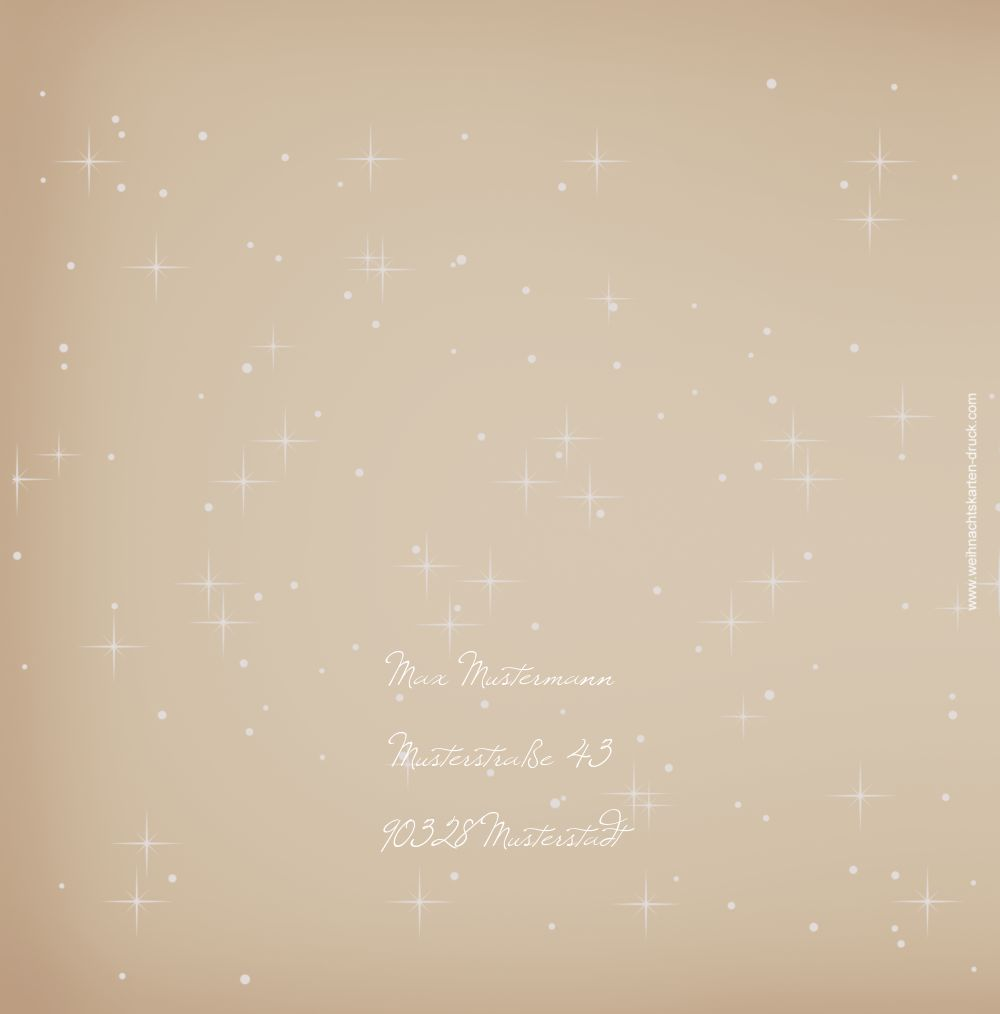 Ansicht 2 - Foto Grußkarte Sternenhimmel