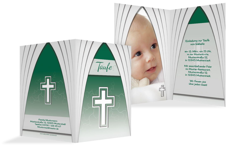 Taufkarte gotischer Bogen