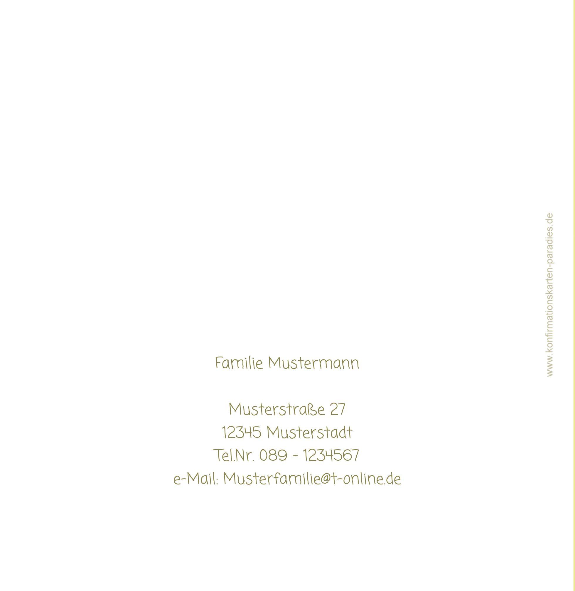Ansicht 3 - Einladungskarte zur Konfirmation Gräser