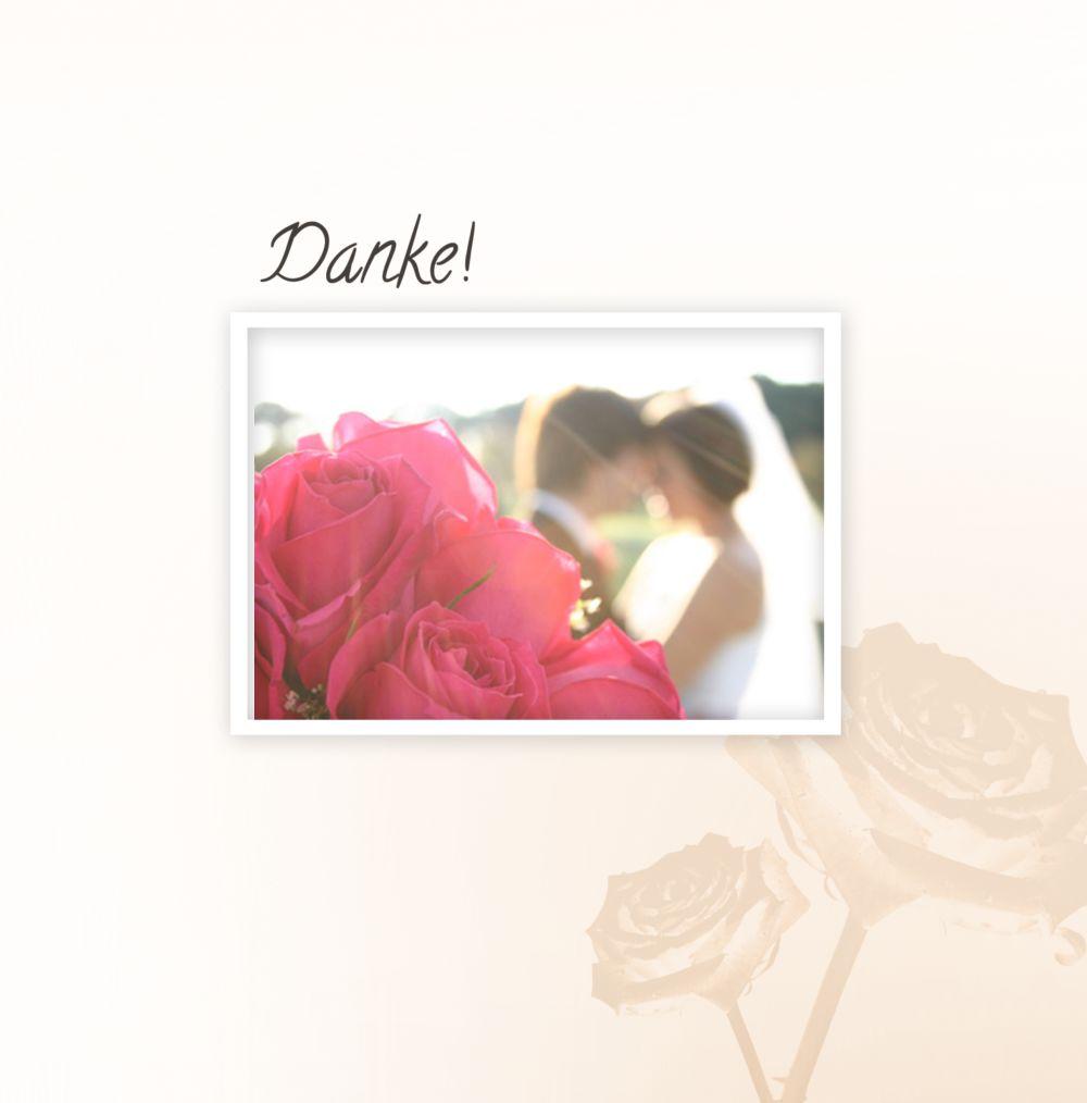 Ansicht 3 - Hochzeit Danke Rose