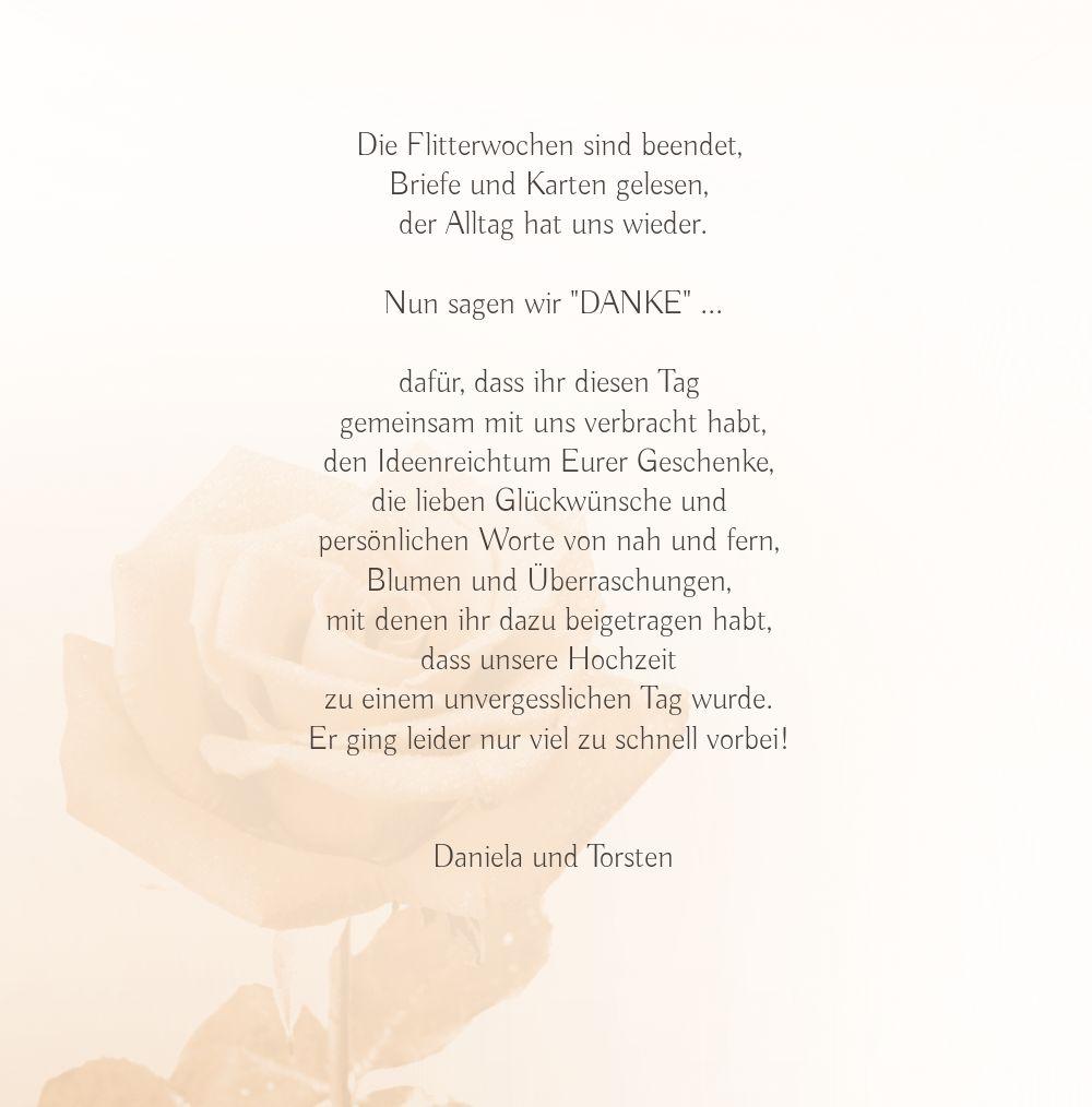 Ansicht 4 - Hochzeit Danke Rose