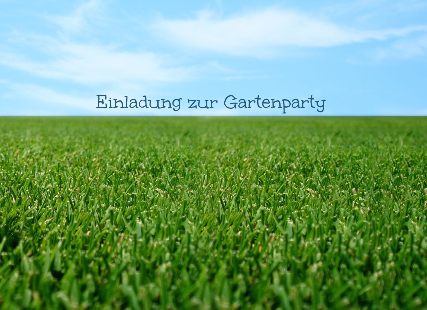 Ansicht 3 - Einladung Sommerfest saftiger Rasen