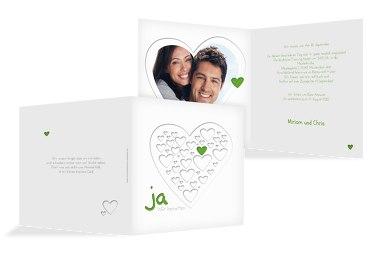 Hochzeit Einladung Herzform