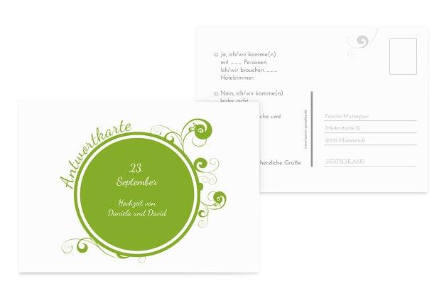 Hochzeit Antwortkarte squiggle chubby