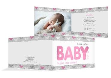 Baby Dankeskarte Cute Baby