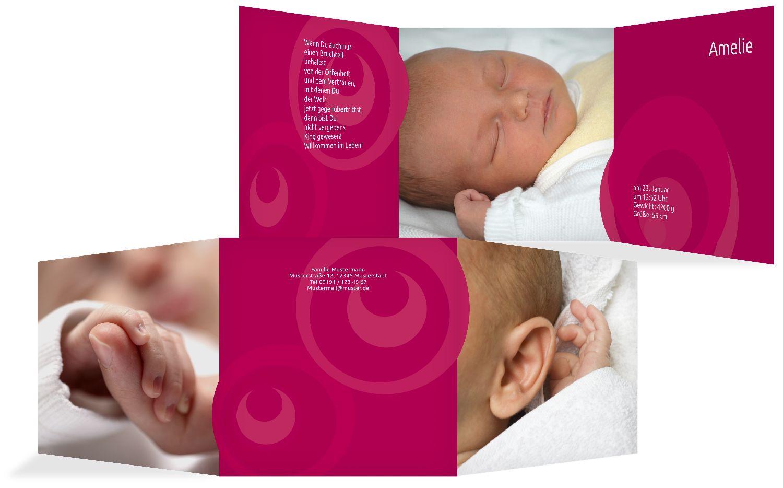 Babykarte Kreise