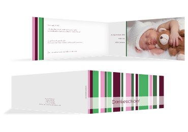Baby Dankeskarte Zweifarbklang