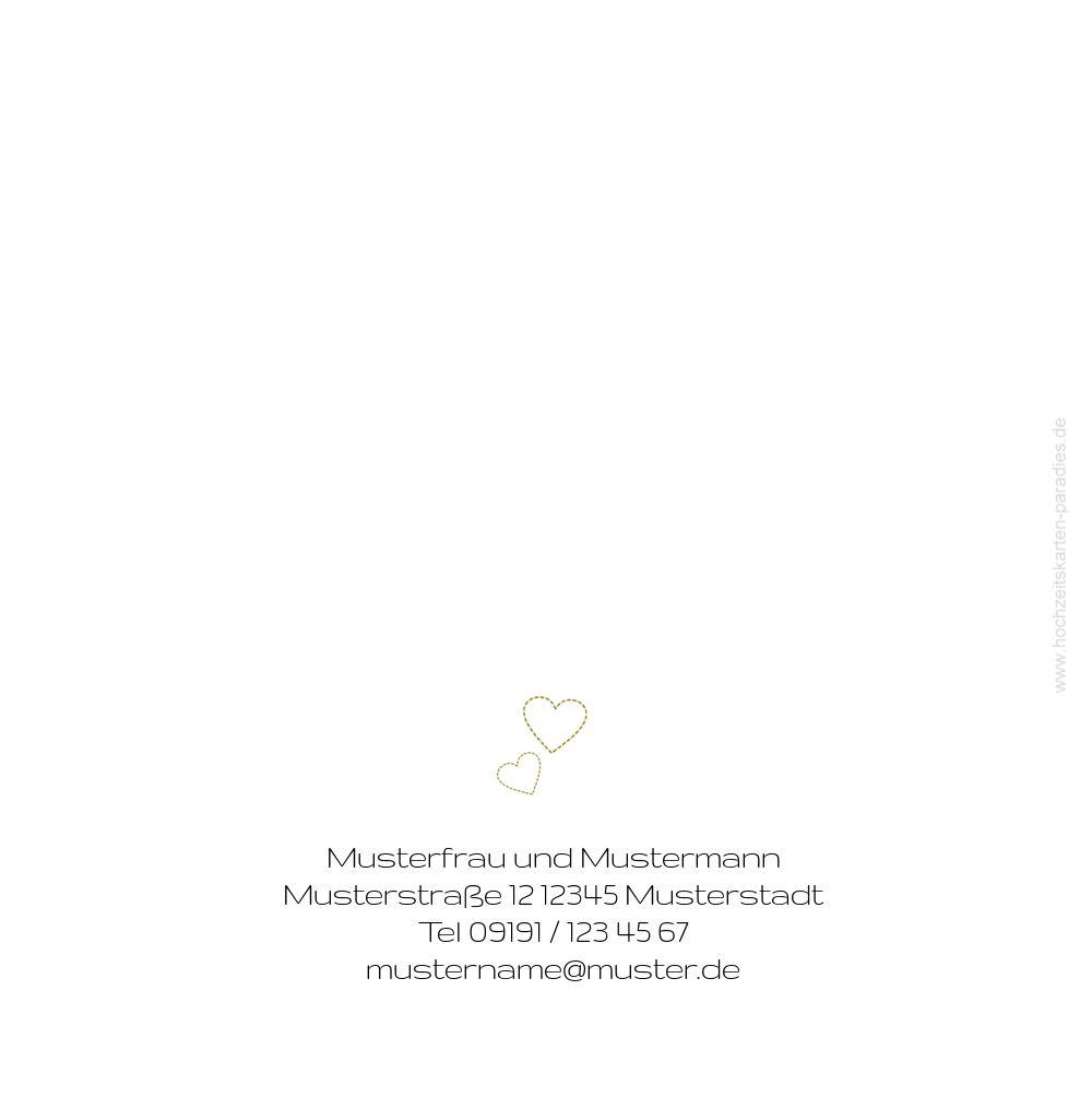 Ansicht 2 - Hochzeit Dankeskarte Herzblume 2