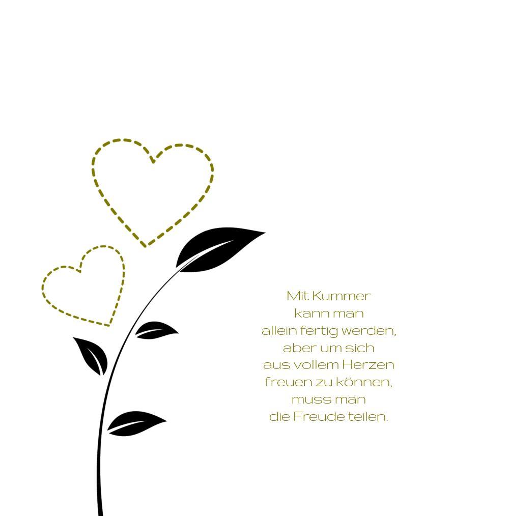 Ansicht 4 - Hochzeit Dankeskarte Herzblume 2