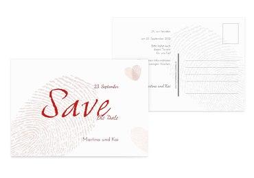 Save-the-Date fingerprint