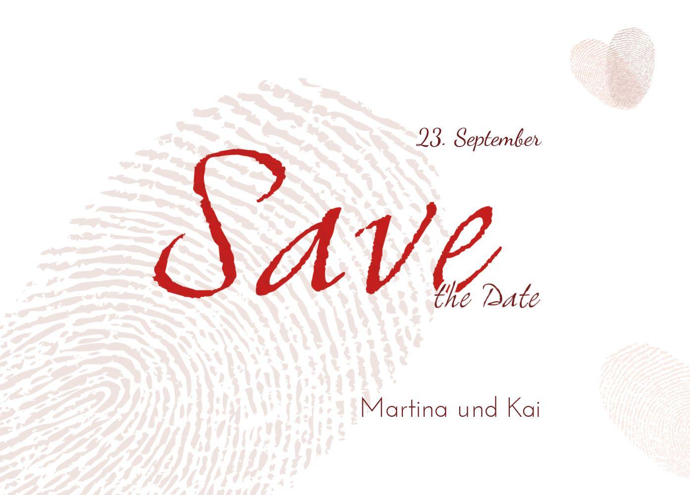 Ansicht 2 - Save-the-Date fingerprint