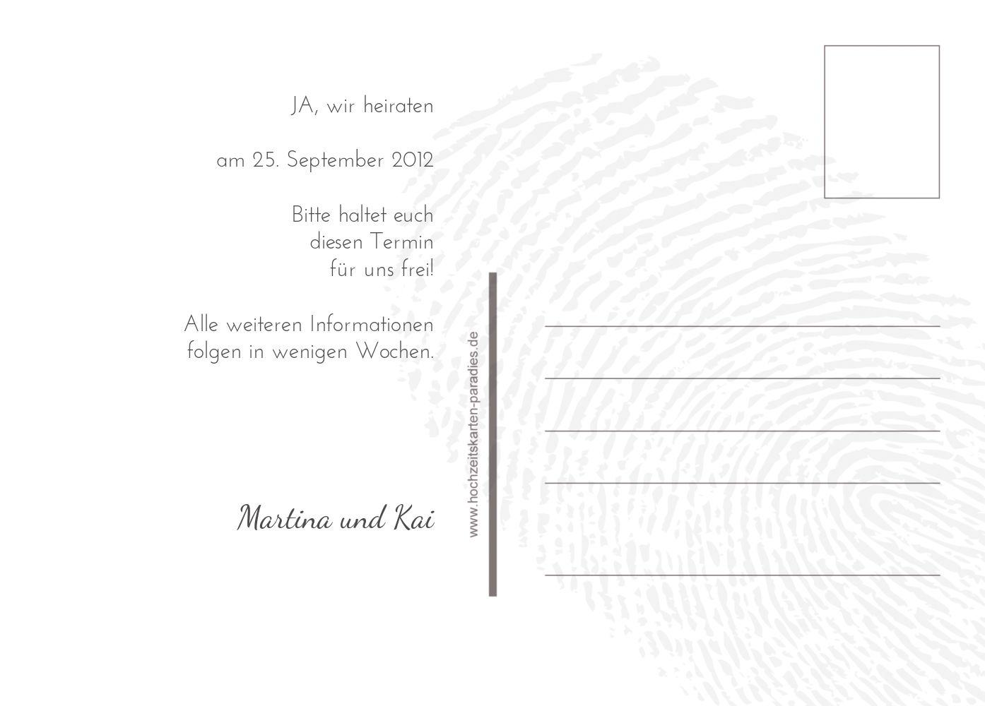 Ansicht 3 - Save-the-Date fingerprint