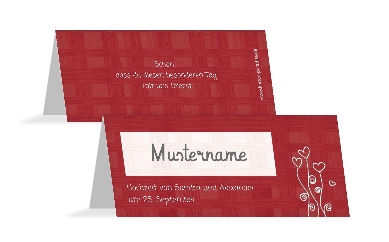 Hochzeit Tischkarte Liebestraum