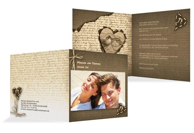 Hochzeit Einladung Herzensgedicht