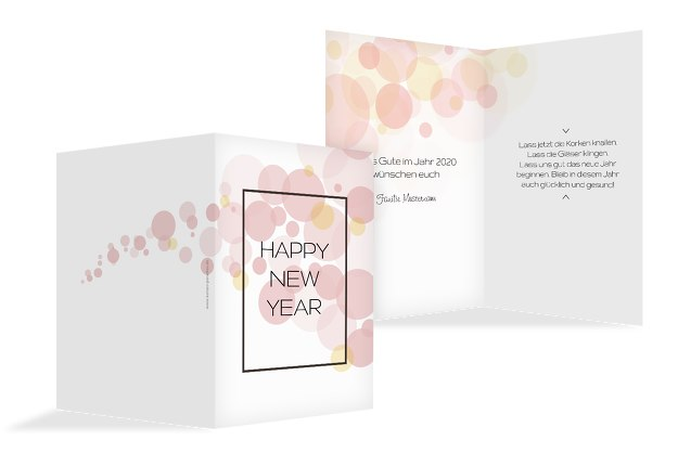 Neujahrskarte Bubbles
