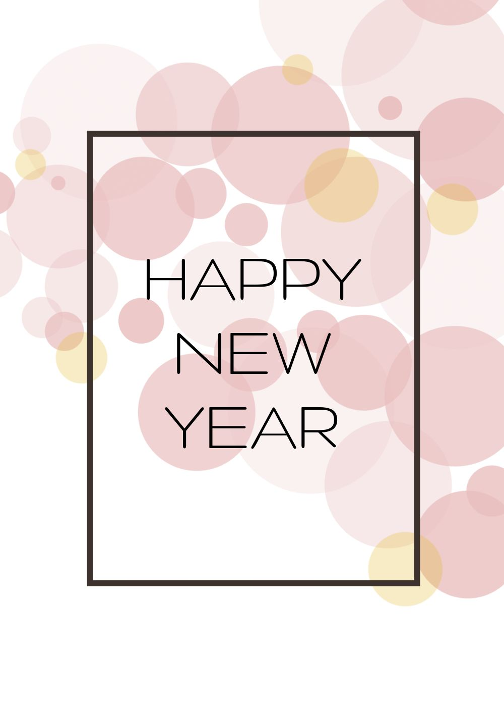 Ansicht 3 - Neujahrskarte Bubbles