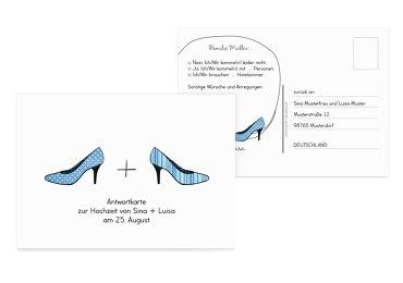 Antwortkarte High Heels
