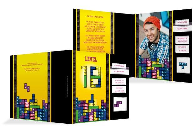 Geburtstagskarte 8bit Game 18 Foto