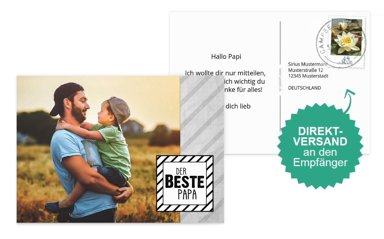 Fotospruchkarte Bester Papa