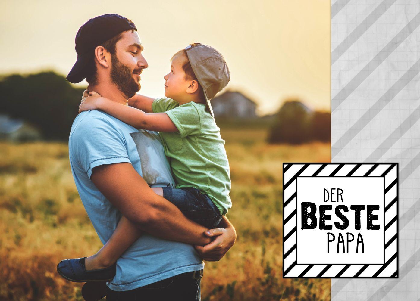 Ansicht 2 - Fotospruchkarte Bester Papa