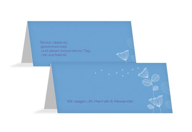 Hochzeit Tischkarte Pusteblume