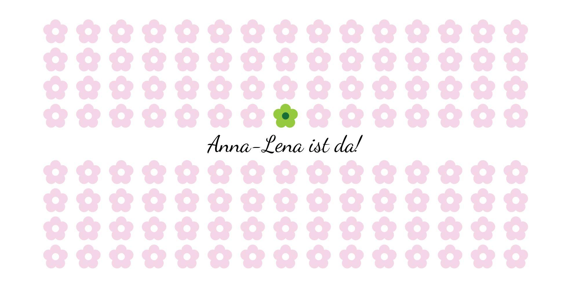 Ansicht 3 - Babykarte Blumentapete