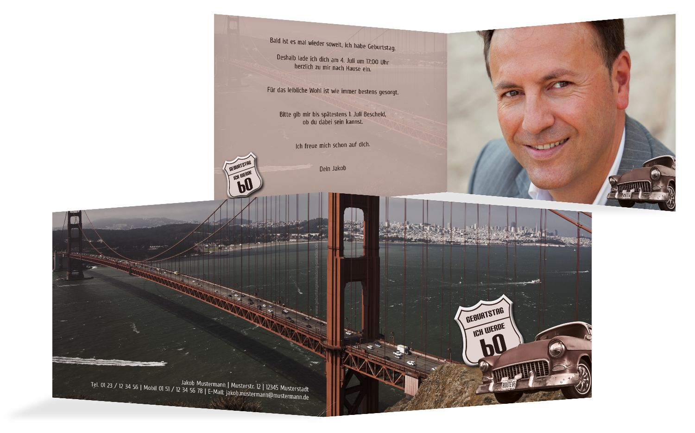 Geburtstagskarte old bridge 60 Foto