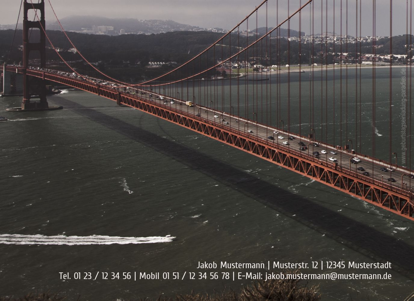 Ansicht 2 - Geburtstagskarte old bridge 60 Foto