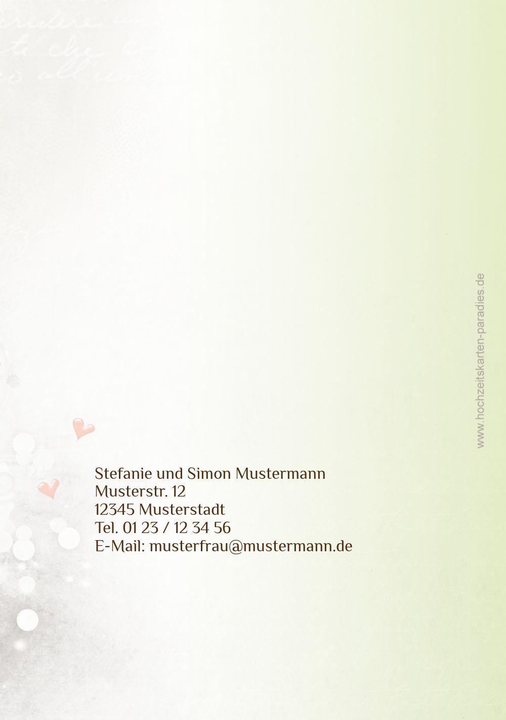 Ansicht 2 - Hochzeit Danke Eheringe Perlen