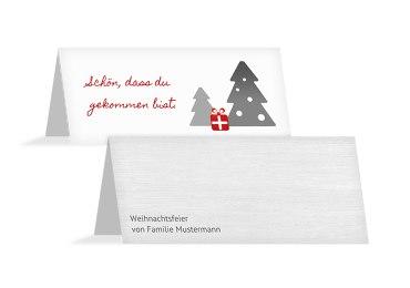 Weihnachtstischkarte Geschenkebaum