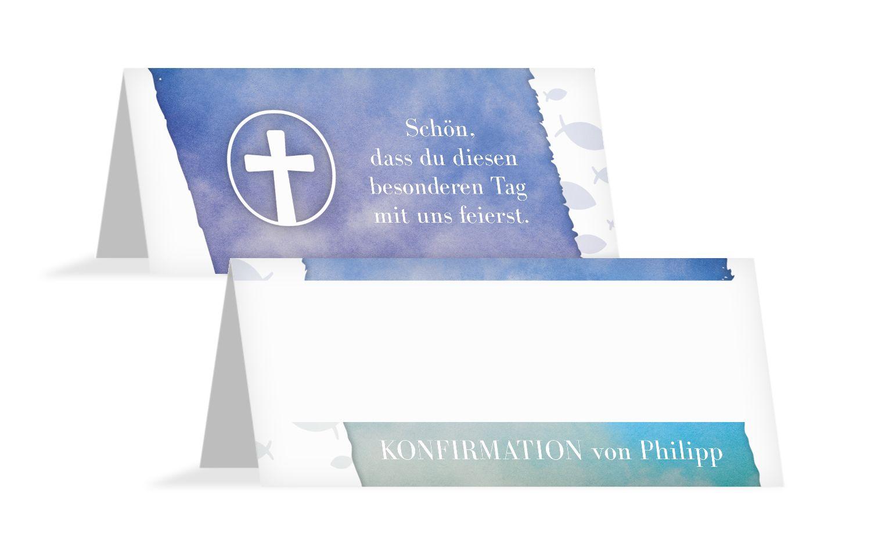 Konfirmation Tischkarte Himmelreich