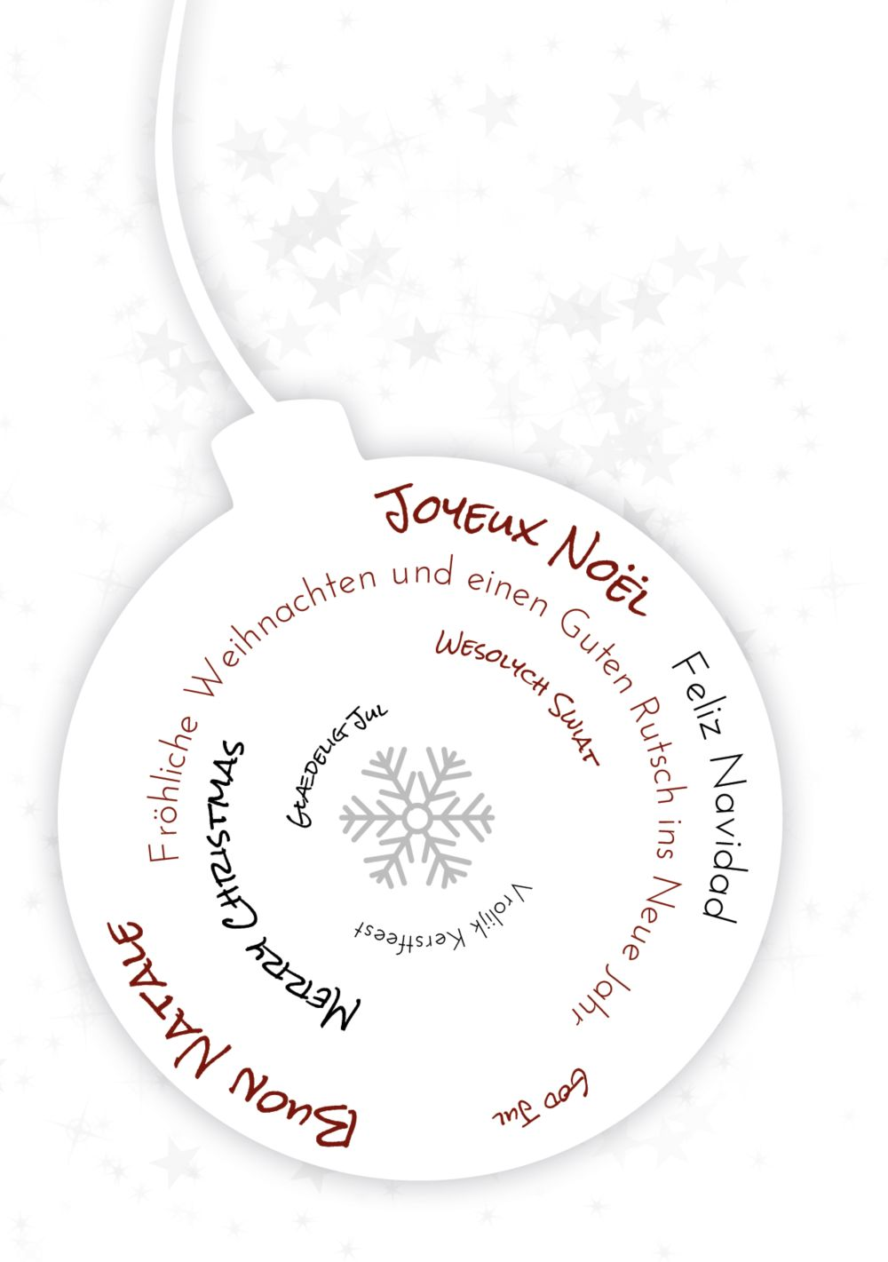 Ansicht 3 - Grußkarte Schriftkugel