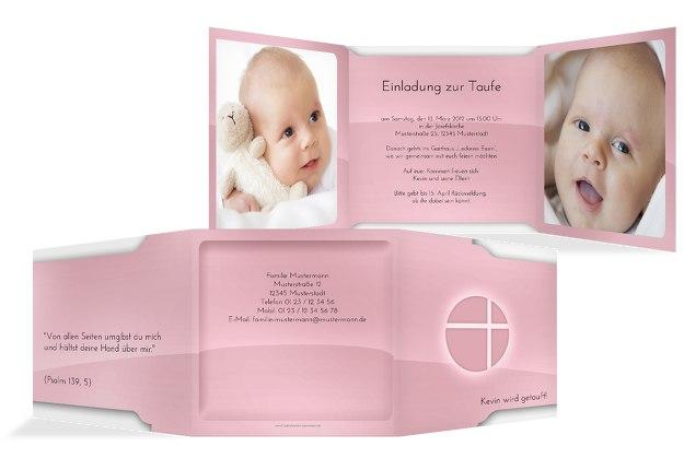 Taufkarte Spiegelung