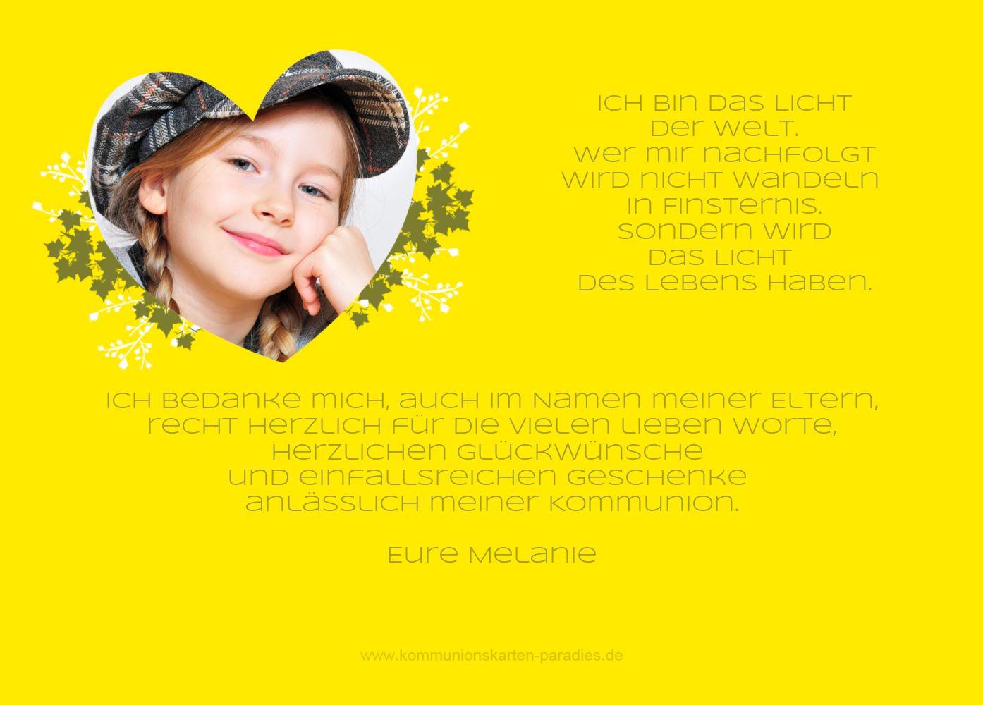 Ansicht 3 - Kommunion Dankeskarte Herz