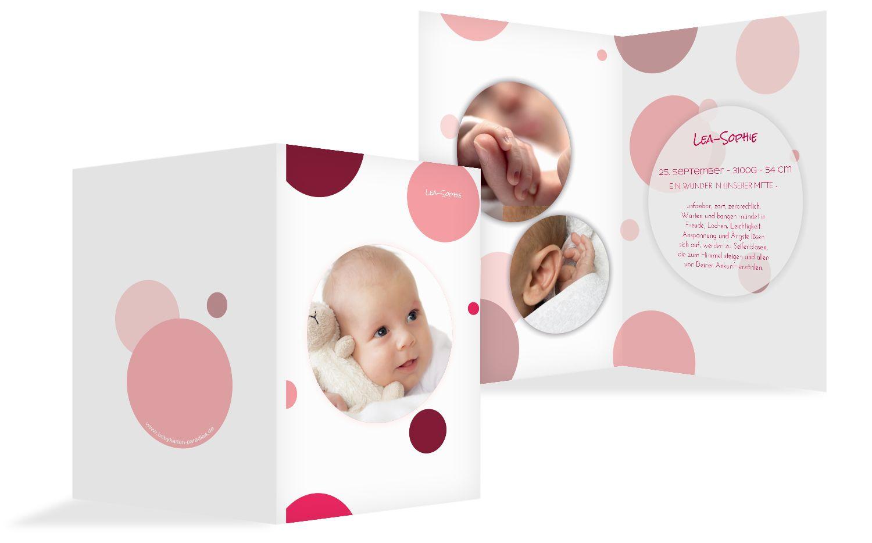 Babykarte Kleckse