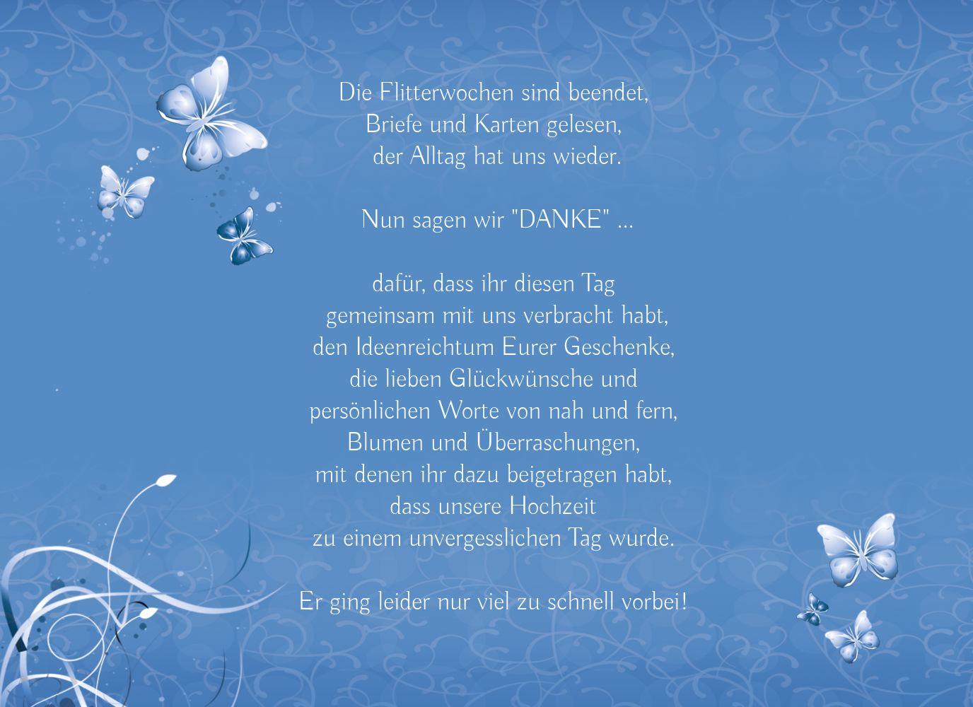 Ansicht 4 - Hochzeit Danke butterfly