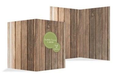 Kirchenheft Umschlag Vintage Holz