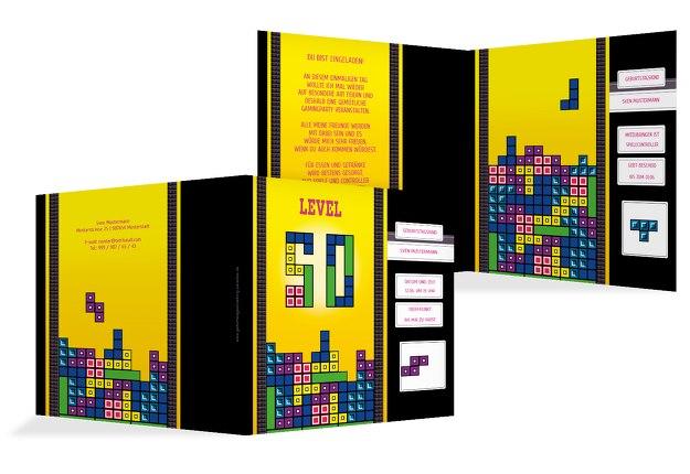 Geburtstagskarte 8bit Game 50