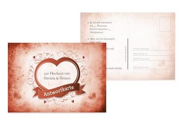 Hochzeit Antwortkarte Herz