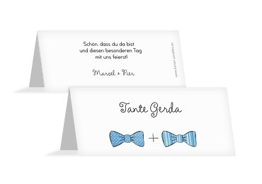 Hochzeit Tischkarte Fliegen