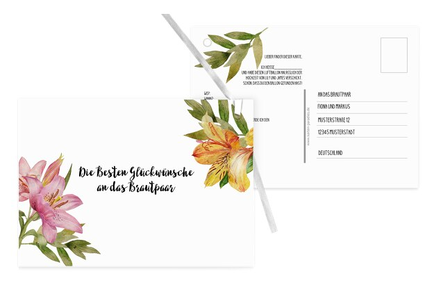 Ballonkarte Blumendeko