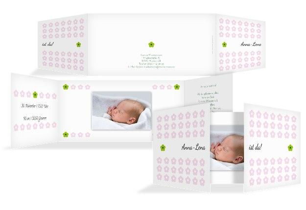 Babykarte Blumentapete
