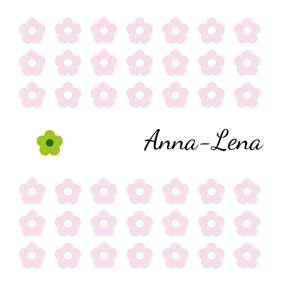 Ansicht 4 - Babykarte Blumentapete