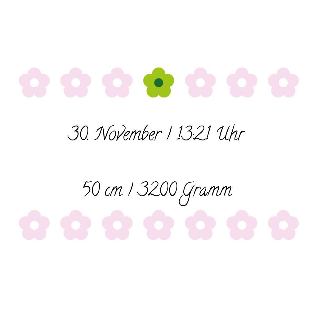 Ansicht 5 - Babykarte Blumentapete