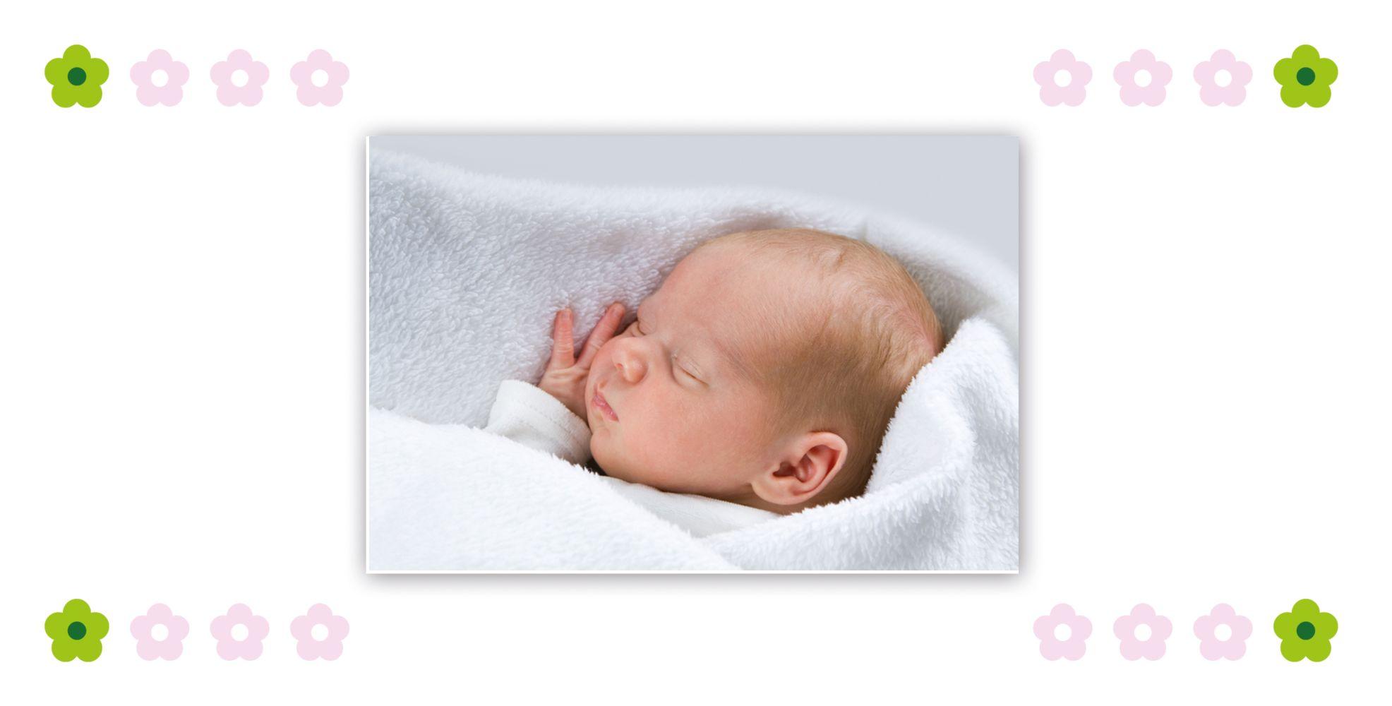 Ansicht 6 - Babykarte Blumentapete
