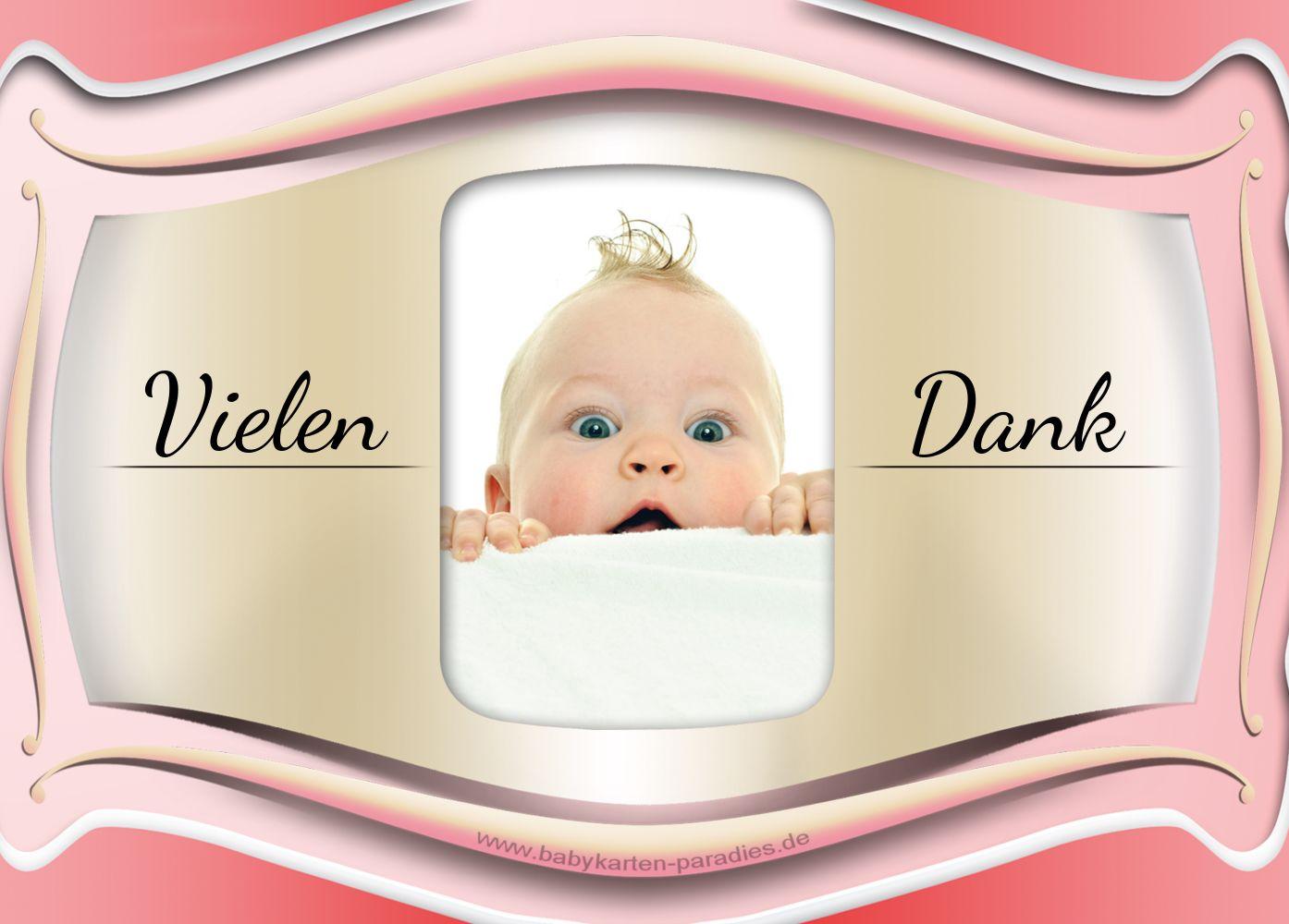 Ansicht 2 - Taufe Dankeskarte Streifbogen